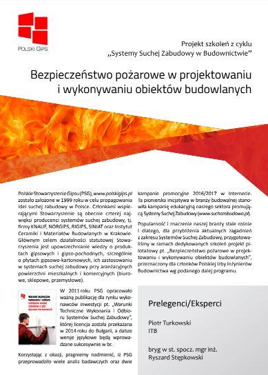 Bezpieczeństwo pożarowe w projektowaniu i wykonywaniu obiektów budowlanych