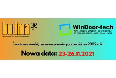 Targi BUDMA oraz WINDOOR-TECH w nowym terminie